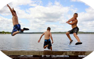 3 boys flying