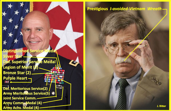 Difference between General McMaster and John Bolton. 2018. Jack Ritter. www.houseofwords.com